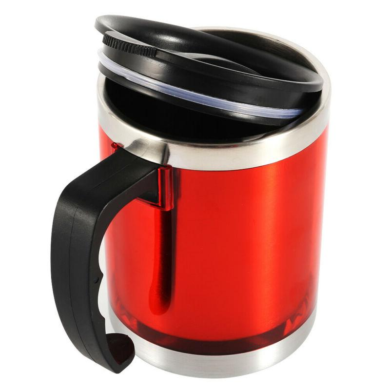 450ml Coffee Desktop Mugs With Lid Steel Tea Water Cup