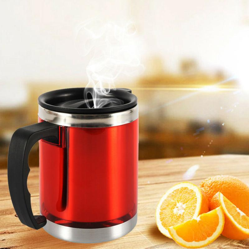 450ml Insulated Mugs Lid Steel