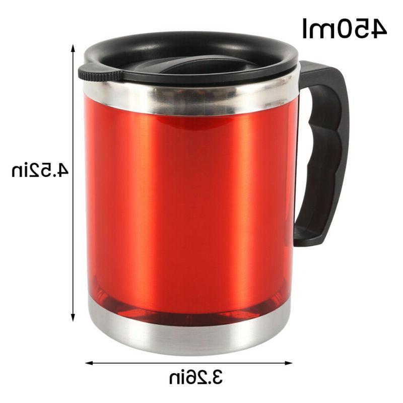 450ml Coffee Mugs With Steel Tea Cup