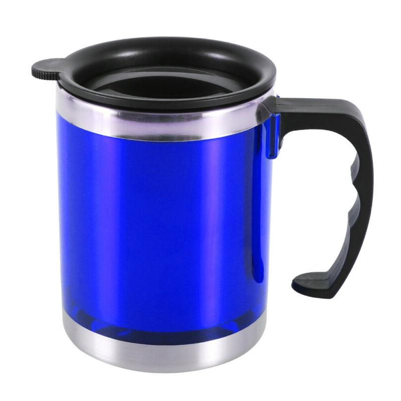 450ml insulated coffee desktop mugs with lid