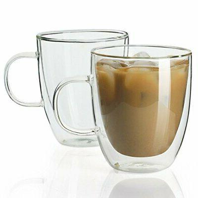 4602 glass coffee mugs12 5 oz double