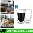 Sweese 4606 Glass Coffee Mugs - 8 Ounces, Double Wall Insula