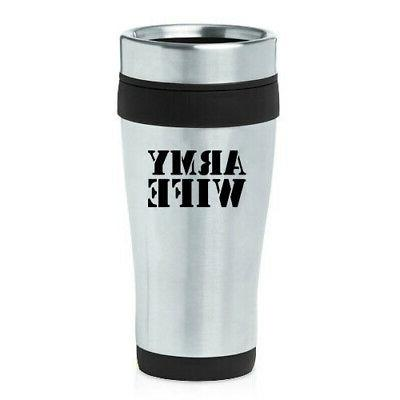 470ml insulated stainless steel travel mug army