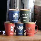 520ML Superhero Bone Ceramic Coffee Mug With Spoon Lid Best