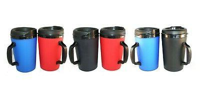 6 Multi colored Foam Insulated 20oz ThermoServ Mugs