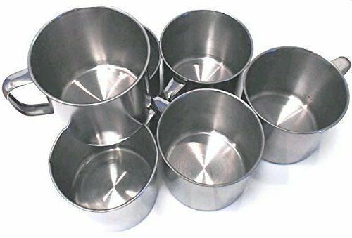 6 Pack Stainless Steel Coffee Camping Mug