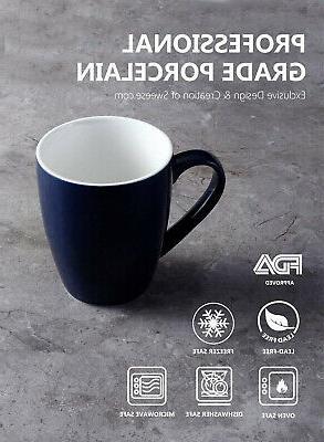 Sweese Porcelain Mugs - 16 Coffee, Tea,