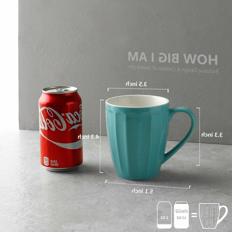 Sweese Mugs - for Coffee, Cocoa, Set 6