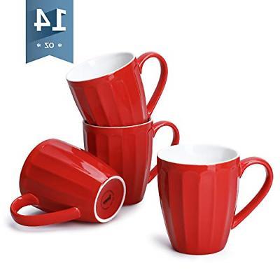 602 104 porcelain fluted mugs 14 ounce