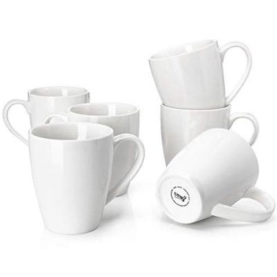 Sweese 6201 Porcelain Mugs - 16 Ounce for Coffee, Tea, Cocoa