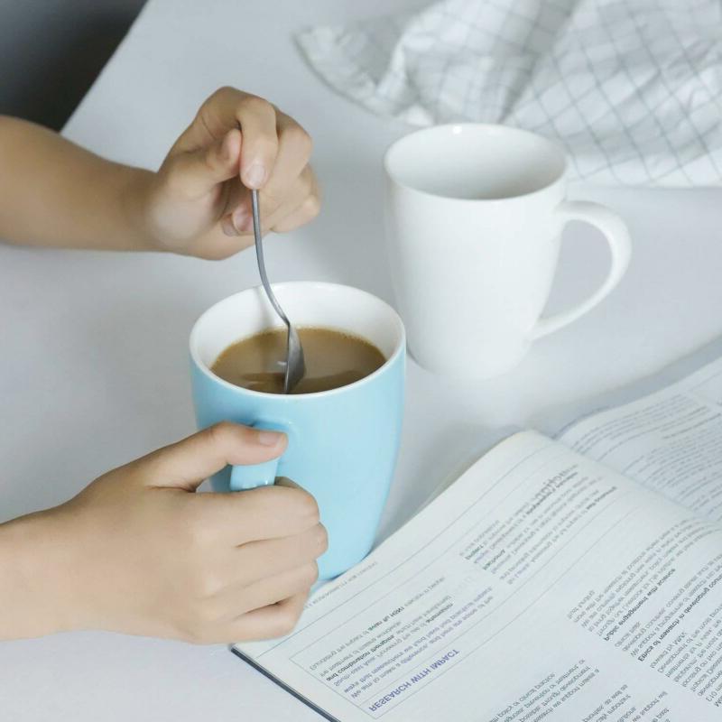 Sweese Porcelain Mugs - 16 Ounce Coffee, Cocoa, of 6,