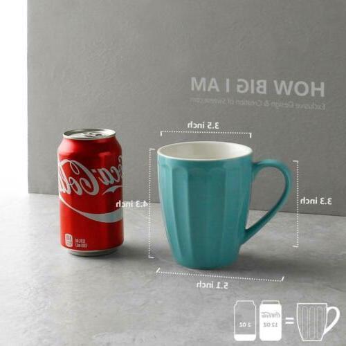 Sweese 6209 Fluted Mugs 14oz Cocoa