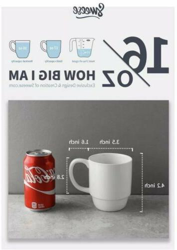 Sweese Porcelain Mug Set Ounce for Coffee Cocoa