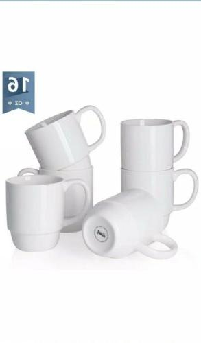 6218 porcelain stackable mug set 16 ounce