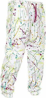 Funny Guy Mugs 80s & 90s Retro Neon Windbreaker Pants -, Whi