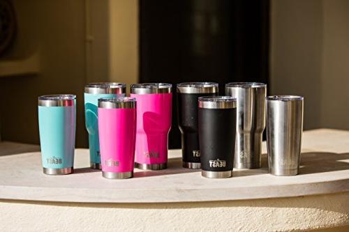 BEAST Tumbler Vacuum Insulated Coffee Double Travel Flask Splash Proof Straws, Pipe Gift Greens Steel