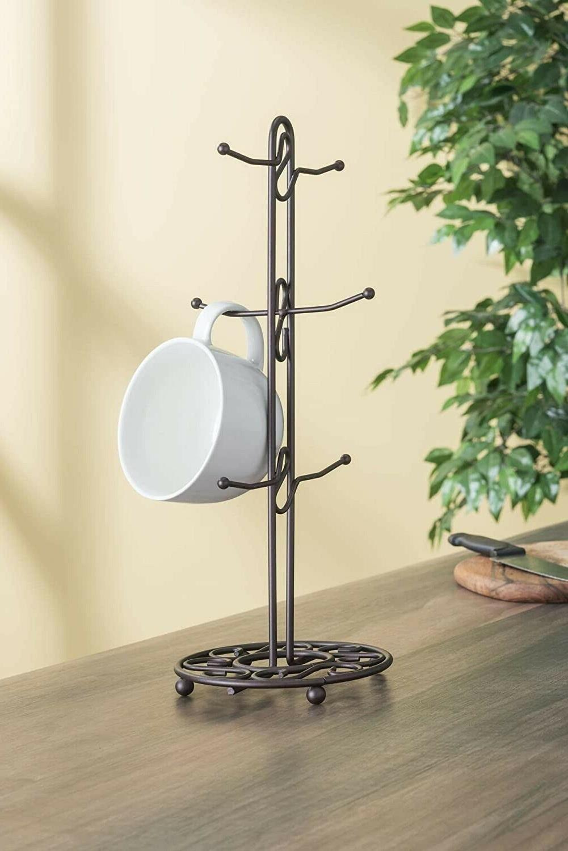 Home Basics Scroll Collection Mug Tree