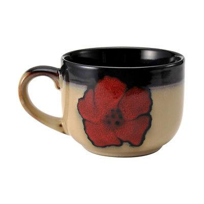 Pfaltzgraff Painted Poppies Jumbo Soup Mug, 28-Ounce