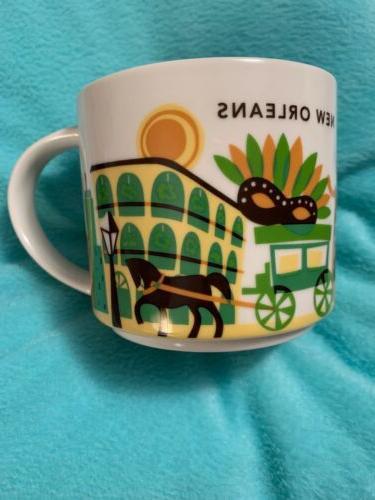Starbucks New Orleans Ceramic Coffee Mug You Are Here Series