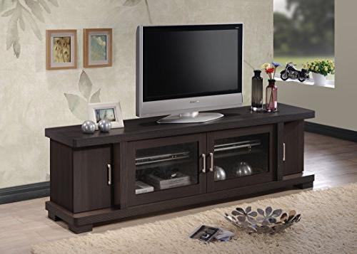 Baxton Studio Wholesale Interiors Viveka Dark Brown Wood TV