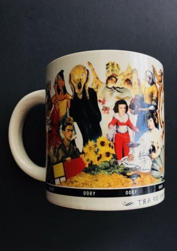 a brief history of art coffee mug