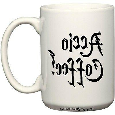 Accio Coffee! Funny Harry Potter Parody Coffee Cup 11, 14 or