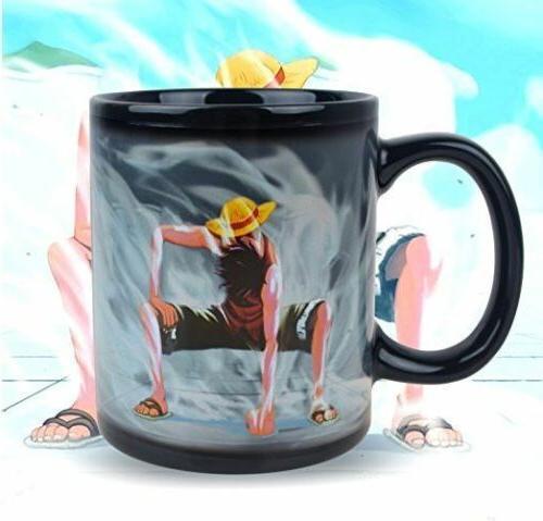 Anime Luffy Mug Reactive Color Change Cup