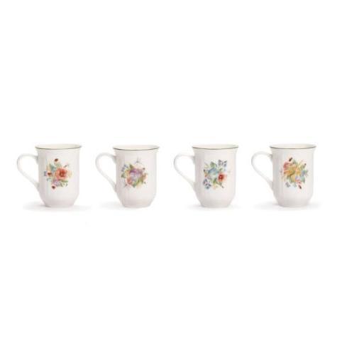 antique garden assorted mugs