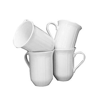 antique white mugs