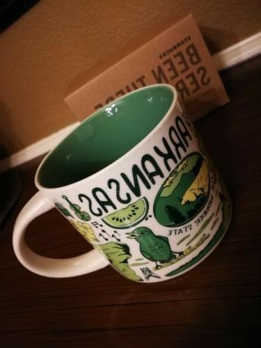 Arkansas Starbucks Mug oz There Across the Globe Collection