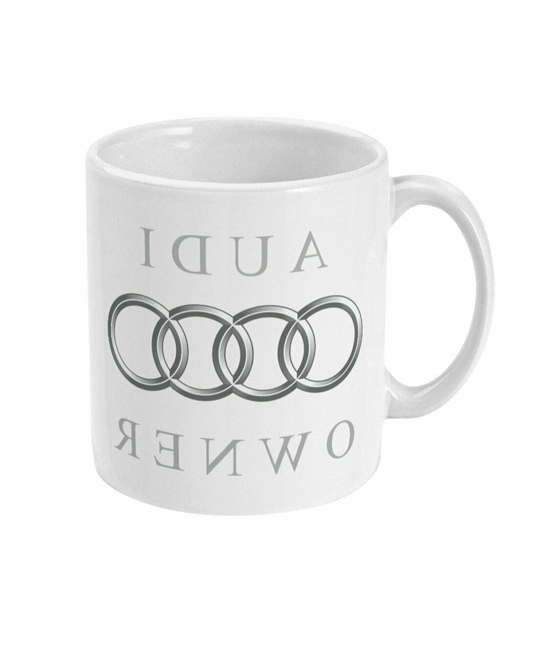 Audi Owner Coffee Tea Drink Mug Ceramic Funny Cute Cup Gift