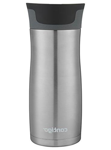 Contigo Vaccuum-Insulated Mug, 16 oz, Steel