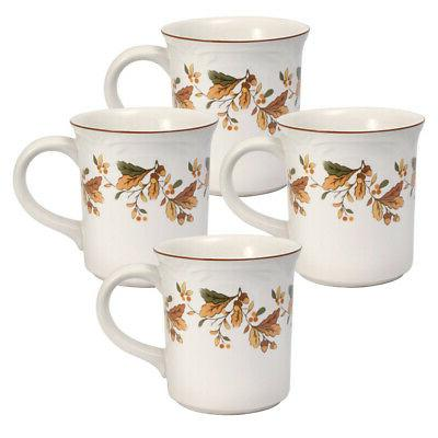 autumn berry set of 4 mugs