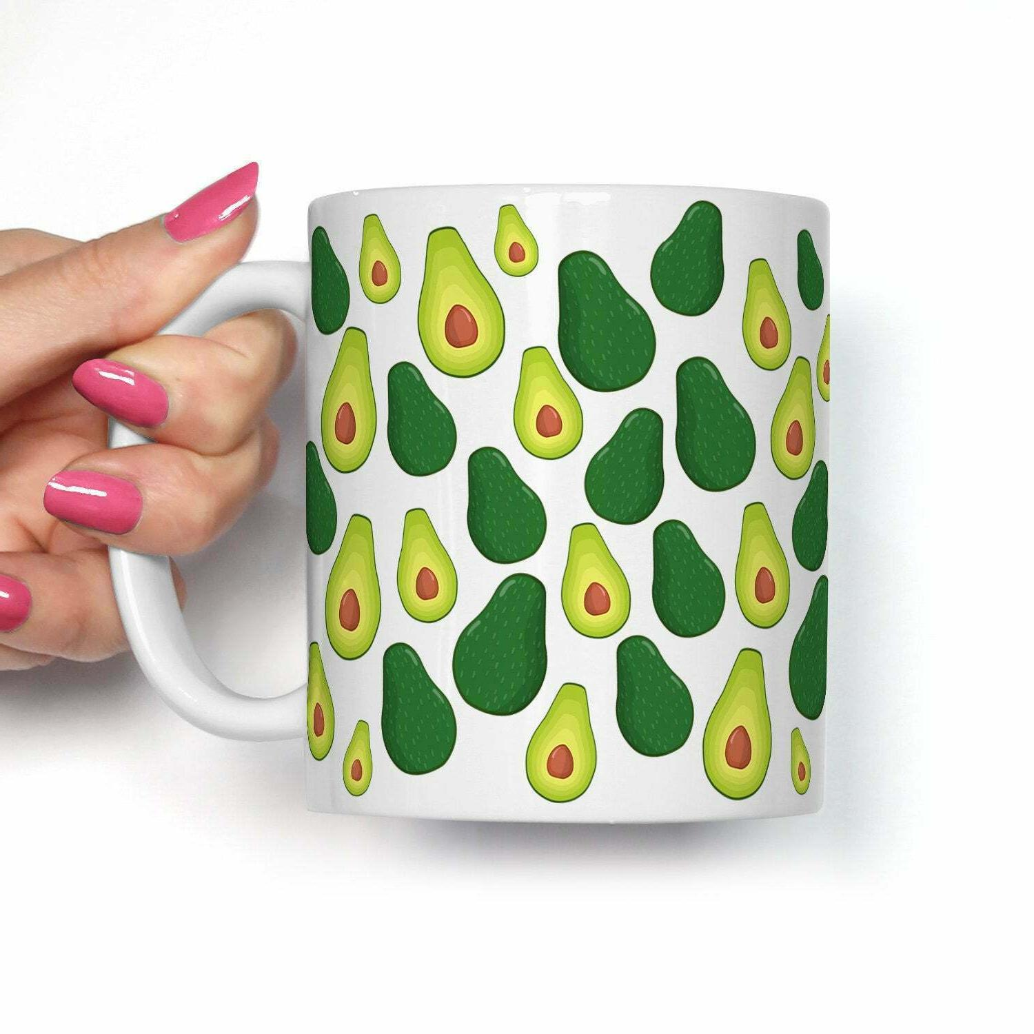 Avocado Coffee Mug Microwave And Dishwasher Safe Ceramic Cup