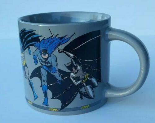batman through the years coffee mug dc