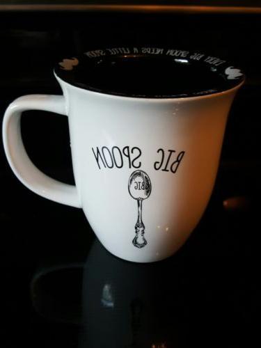 10 STRAWBERRY STREET Big Spoon Mug  Mustache Rim Coffee Tea