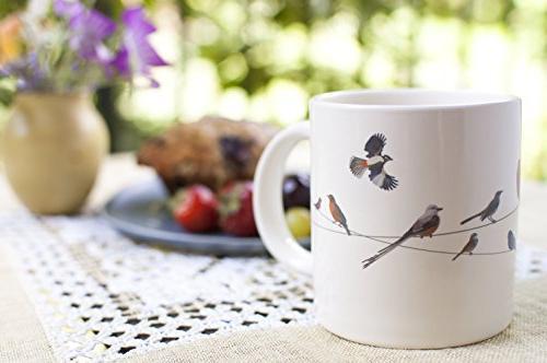 Birds on a Heat Mug Add Coffee and - in Fun Box