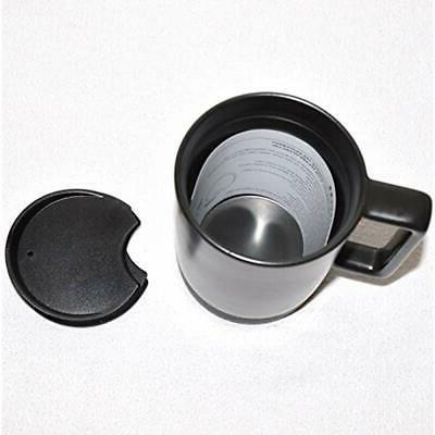"""Black Ceramic Desktop Mug Silicone Nonslip Bottom With Press-in 14 Oz """""""