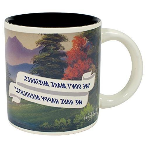 Bob Ross Mug Coffee or Happy - in Fun