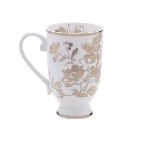 bone china footed coffee mug
