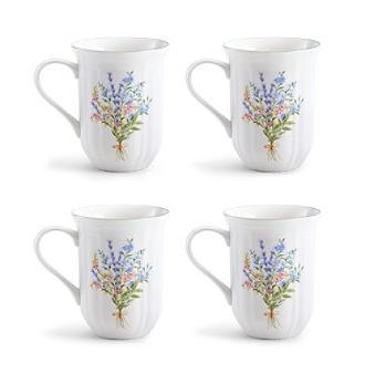 botanical bouquet mugs