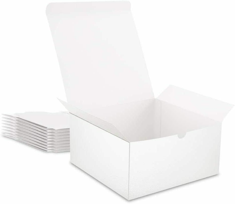 Bridesmaid White Gift Boxes with Lids-10 30pcs
