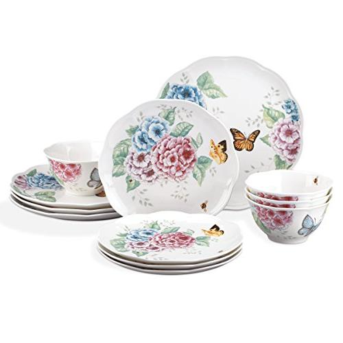 butterfly meadow hydrangea collection dinnerware