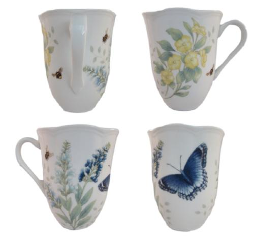 butterfly meadow red admiral 12oz mug set