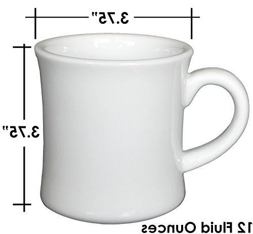 CAC Ceramic Diner Coffee Scraper, 12 Ounce