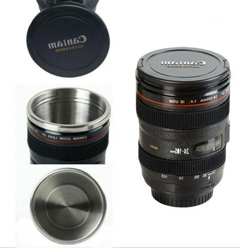 Camera Lens Coffee Mug Cup Photo Funny DSLR Thermos