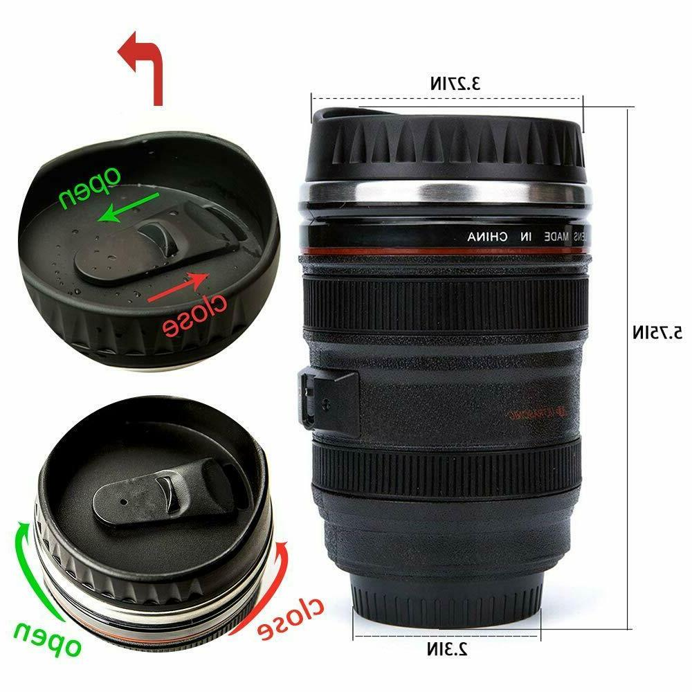 Camera Lens Cup Photo Funny Thermos