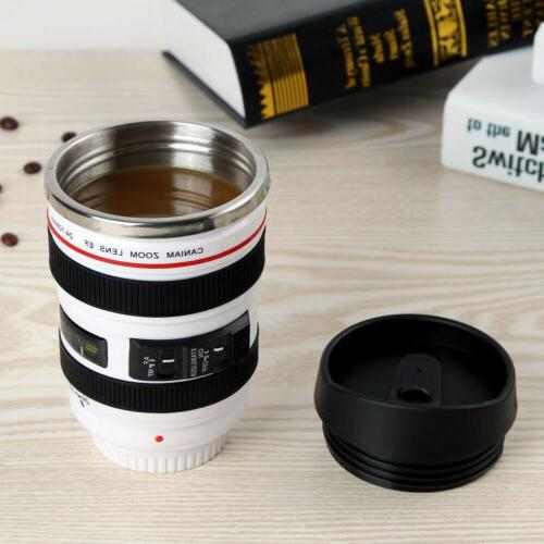 Camera Lens Cup Coffee Stainless Thermos
