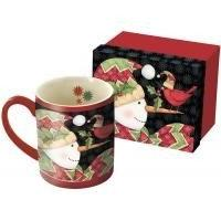 Cardinals on Nose Mug with Gift Box by Lang Companies