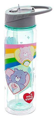 Vandor Care Bears 18 Ounce Tritan Water Bottle